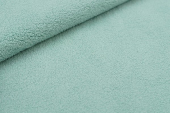 Baumwoll-Fleece uni mint