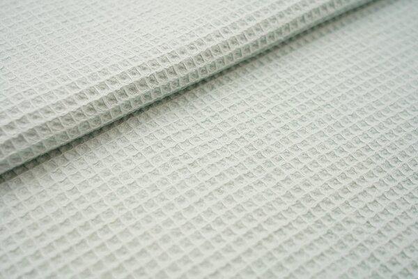 Waffelpiqué Waffelstoff uni mint Baumwollstoff mit Waffelmuster