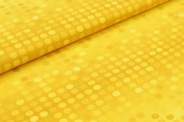 Baumwoll-Jersey Digitaldruck 3D Punkte Farbverlauf senf / gelb