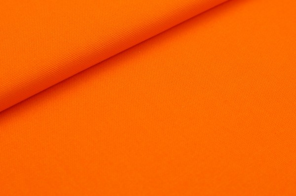 Canvas Stoff uni orange