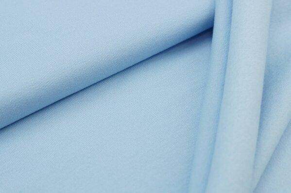 Kuscheliger Baumwoll-Sweat EIKE uni hellblau babyblau French Terry
