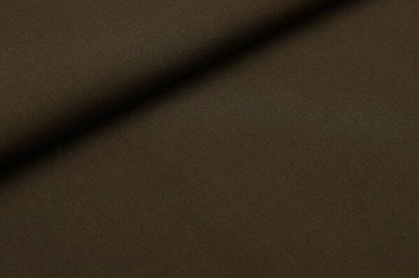 Baumwollstoff Baumwolle uni dunkelbraun