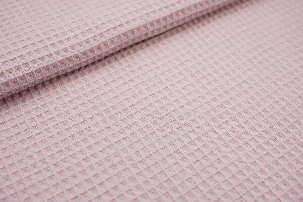 Waffelpiqué Waffelstoff uni pastell violett Baumwollstoff mit Waffelmuster
