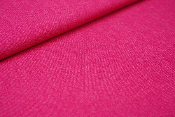 Jeansstoff mit Stretch pink
