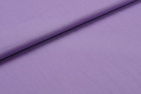 Baumwollstoff Baumwolle uni flieder lila
