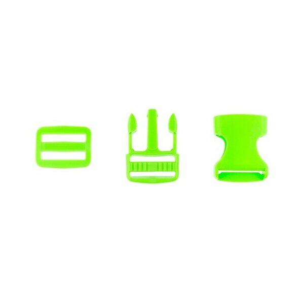Steckschnalle Steckschließe Taschenverschluss grün 2,5 cm klein