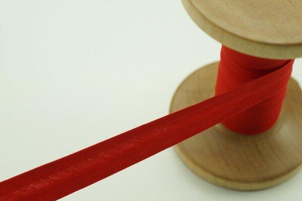 Schrägband Baumwolle 1,5 cm breit uni hellrot 6 m