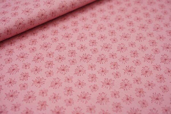 Baumwollstoff Pusteblumen pastell altrosa