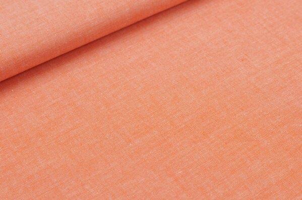 Baumwollstoff Baumwolle uni orange meliert