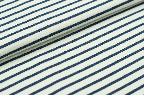 XXL Sommersweat MARIE Streifen mittel navy blau / creme