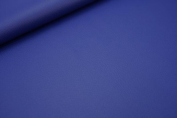 Kunstleder Lederimitat uni blau