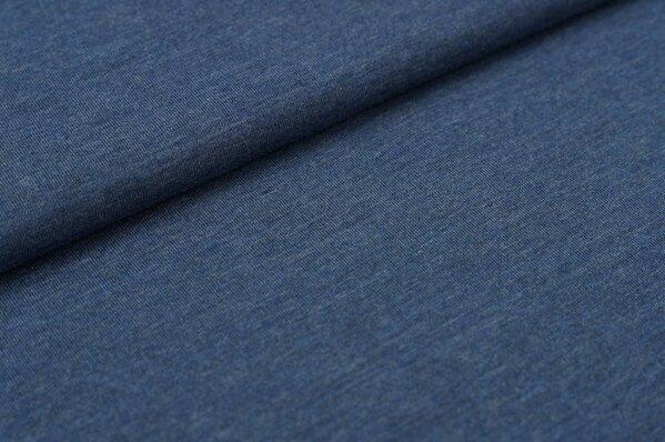 Baumwoll-Jersey uni jeans meliert