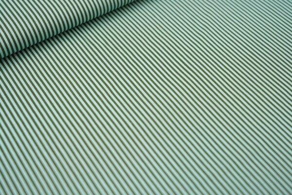 Baumwollstoff Streifen khaki grün / mint Ringel Baumwolle