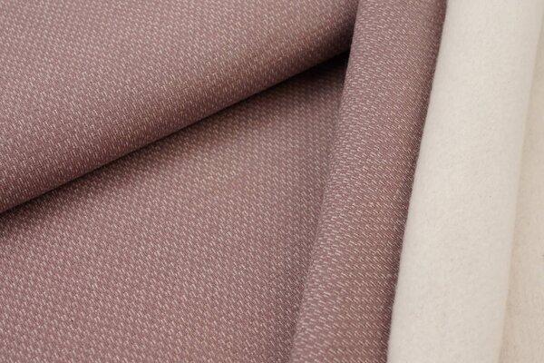Jacquard-Sweat mit Kästchen-Muster und kuscheliger Innenseite pastellviolett rosa / weiß