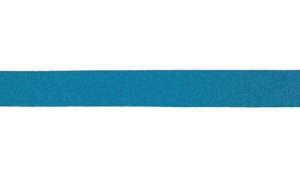 Viskose-Jersey Schrägband uni türkis 20 mm Einfassband