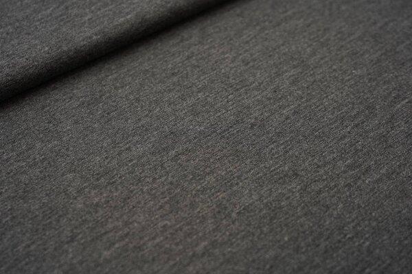 Viskose-Jersey uni dunkelgrau meliert