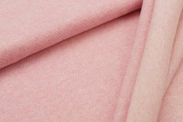 Kuschel Jacquard-Sweat Moritz pastell pink / off white Melange Uni