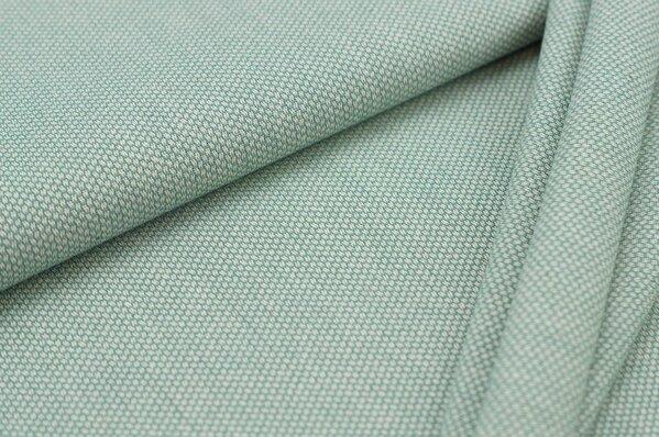 Canvas-Stoff Dekostoff Muster mit kleinen Vierecken altmint / weiß