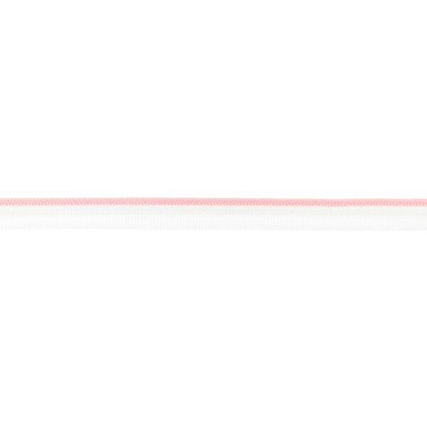 Duo Paspelband zweifarbige Streifen weiß / rosa