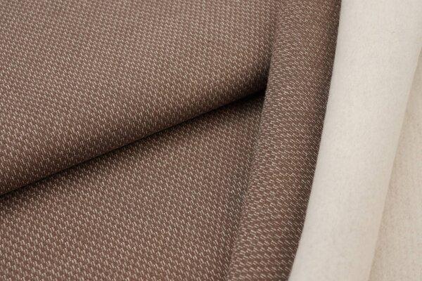 Jacquard-Sweat mit Kästchen-Muster und kuscheliger Innenseite taupe braun / weiß