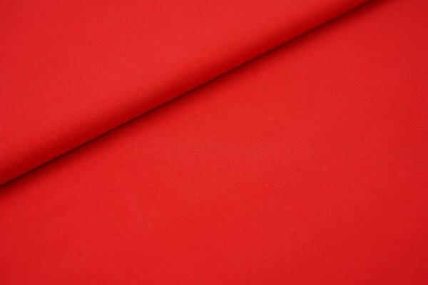 weicher Baumwoll Jersey Uni rot