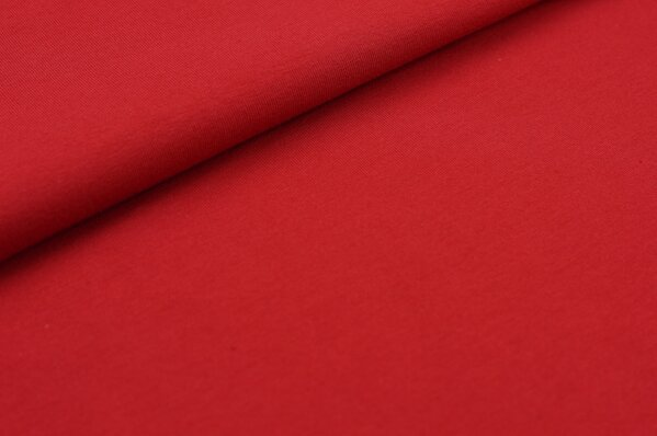 XXL Baumwoll-Jersey Marie uni rot