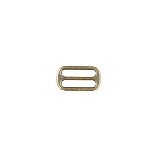 Metall Leiterschnalle 25 mm messing antikgold Schieber