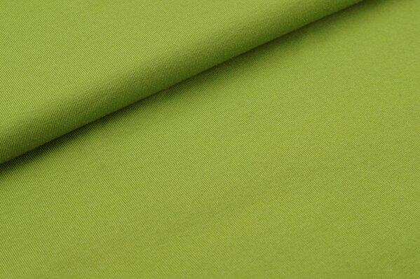 Baumwoll-Jersey uni dunkel grasgrün