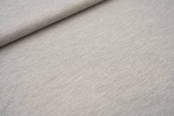 Baumwoll-Jersey mit Struktur Piqué Stoff uni hellgrau meliert