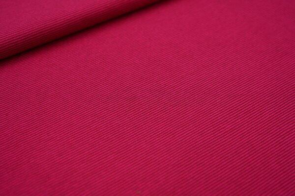 Baumwoll-Jersey Mini-Streifen Ringel bordeaux rot / pink