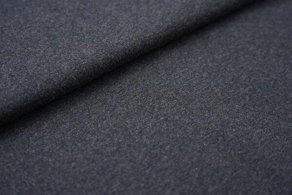 Bündchen Melange glatt navy dunkelblau meliert