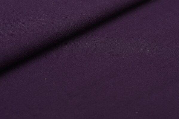 XXL Jersey LILLY uni aubergine / dunkel lila