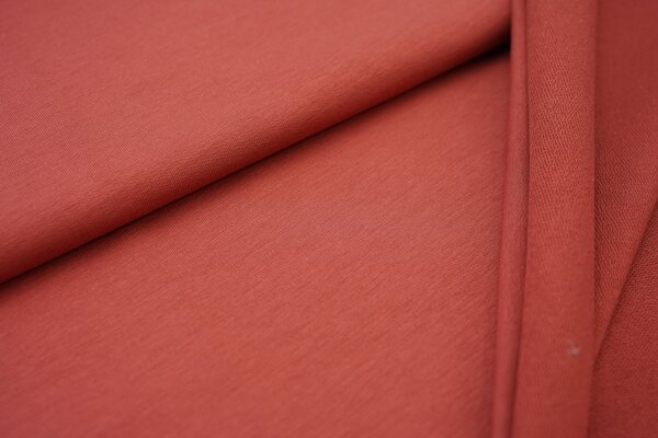 Organic Cotton Emma Baumwoll Sweat French Terry uni terrakotta