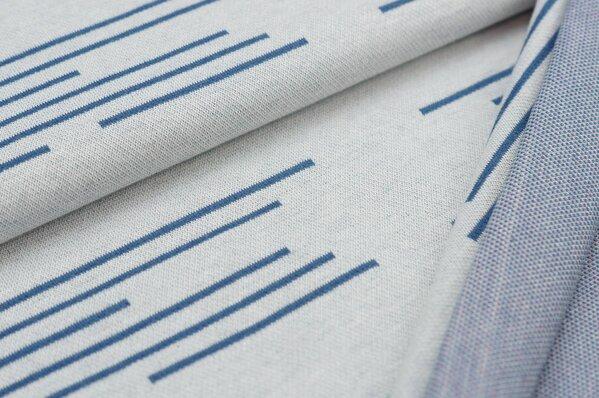 Jacquard-Sweat Ben Streifen Striche off white / taupe blau / altrosa / eisblau