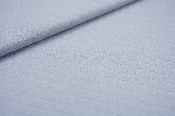 Baumwoll Stepp-Stoff uni mit Rauten Muster hellblau