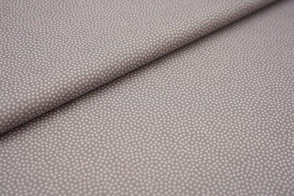 Baumwolle Swafing Dotty kleine unregelmäßige Punkte dunkelgrau / beige