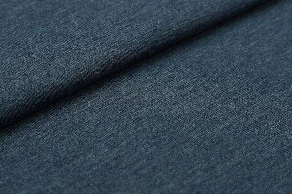 XXL T-Shirt Stoff LILLY jeansblau meliert