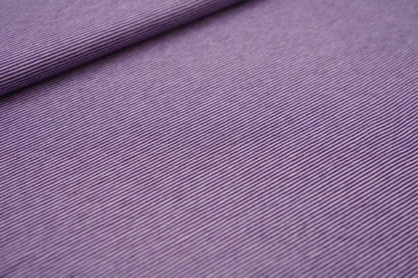 Baumwoll-Jersey Mini-Streifen Ringel lila / hell lila