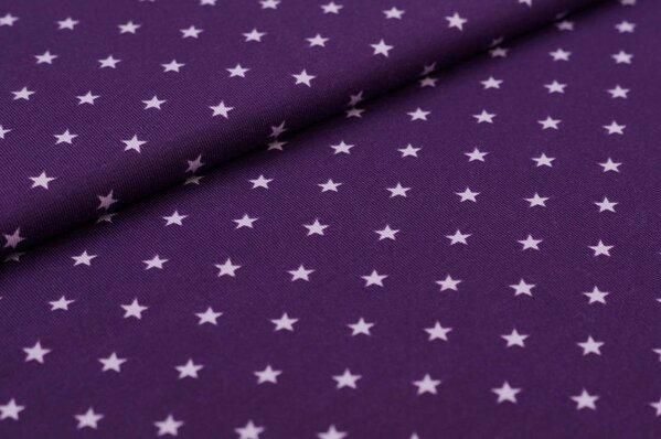 Baumwoll-Jersey kleine Sterne lila / hell lila