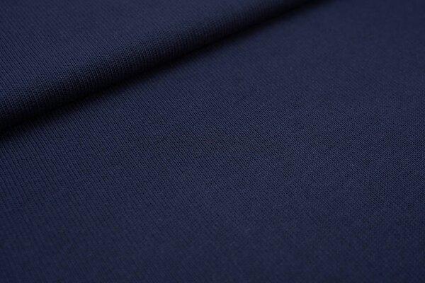Baumwoll Strickstoff uni marine dunkelblau Strickware