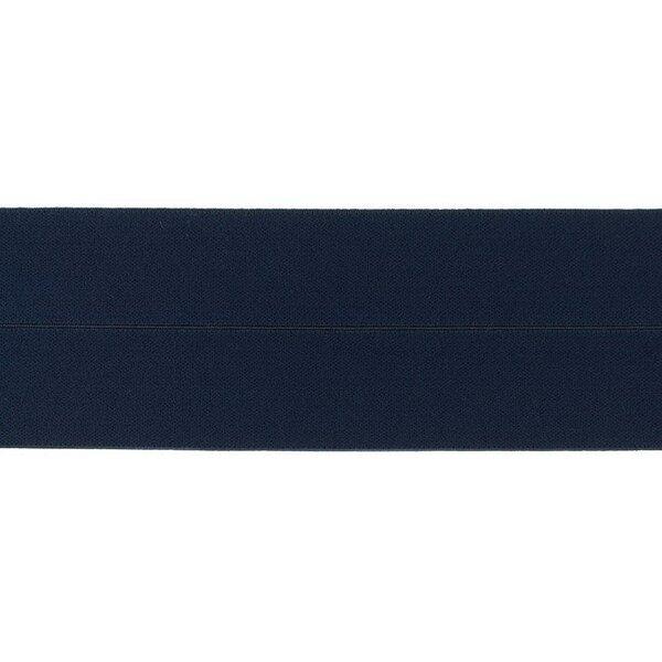 Elastisches Einfassband uni dunkelblau 60 mm Schrägband Gummiband Falzgummi