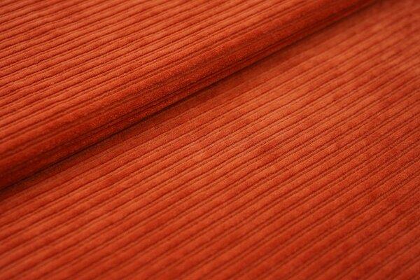 Breitcord Jersey uni rostrot terrakotta