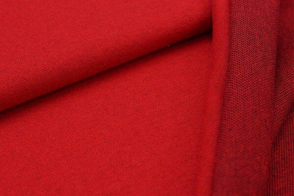 Jacquard-Sweat Ben rot uni mit rot und schwarzer Rückseite