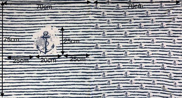 Panel Jacquard-Sweat Ben Anker / Streifen taupe blau / lachs / off white