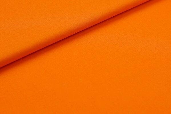 Baumwollstoff Baumwolle uni orange