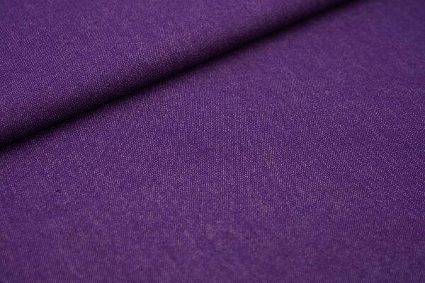 Jeansstoff mit Stretch lila