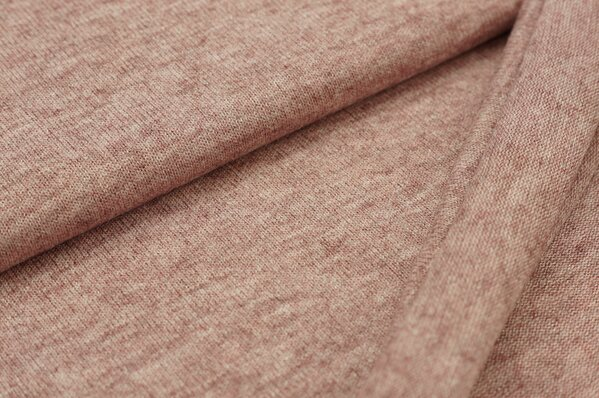 Strickstoff rosa rot meliert
