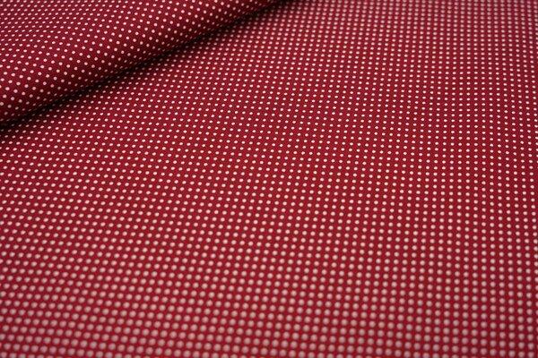 Baumwollstoff kleine weiße Punkte auf rotbraun