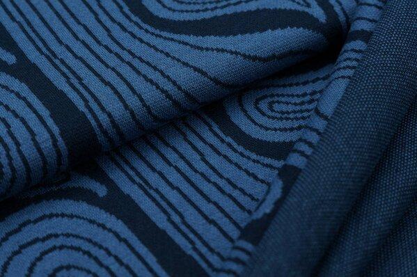 Jacquard-Sweat Ben Baumringe navy blau / taupe blau