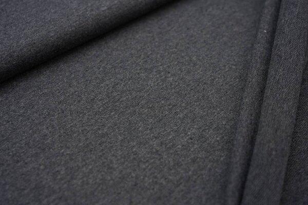 Baumwoll-Sweat Recycelt einfarbig uni dunkelgrau meliert